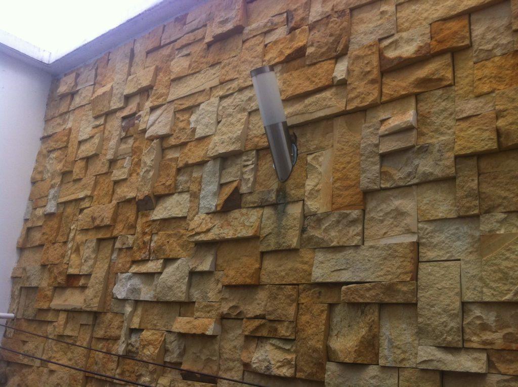 piedra para muros exteriores