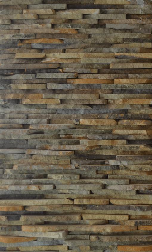 piedra de paredes color cafe