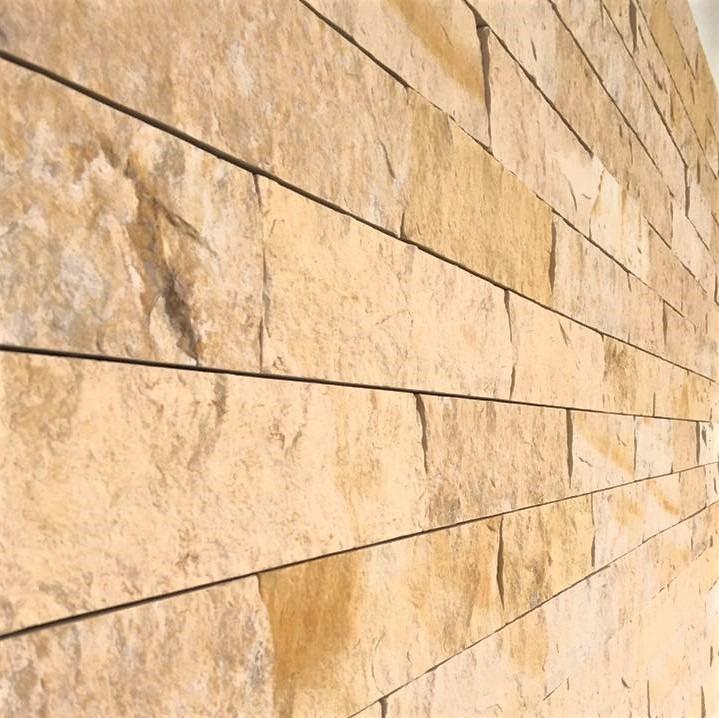 fachada exterior piedra rustica