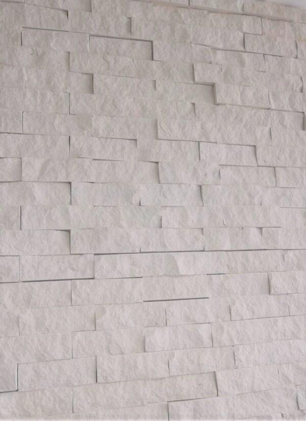 piedra blanca rústica pared